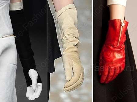 Трендовые дамские перчатки осень-зима 2015