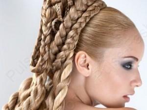прекрасные косы на длинноватые волосы