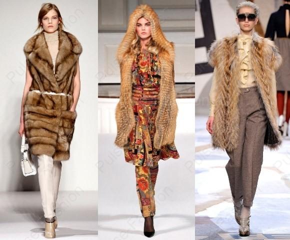 Модные меховые жилетки осень-зима 2017