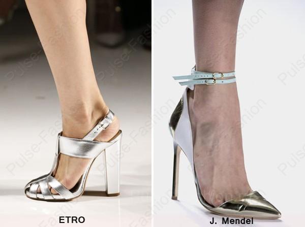 Трендовая женская обувь сезон весна-лето 2018 - железный сияние