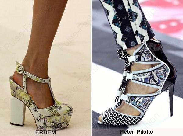 Трендовая женская обувь сезон весна-лето 2018 - броский принт