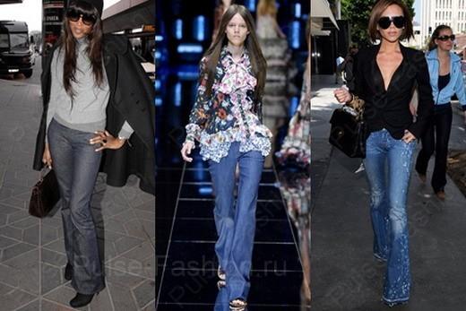 Модные и стильные джинсы клеш лето 2019