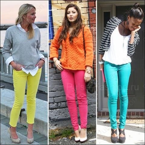 Модные и стильные цвета джинсов лето 2017