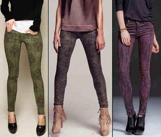 Модный и стильный  принт джинсов лето 2017