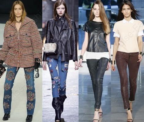 Стильные и модные джинсы осень-зима 2017