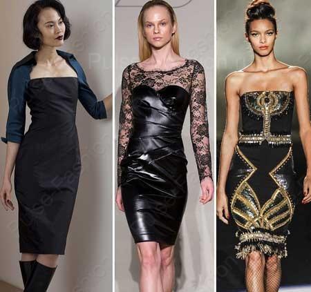 Стильные и модные коктейльные платья осень-зима 2017