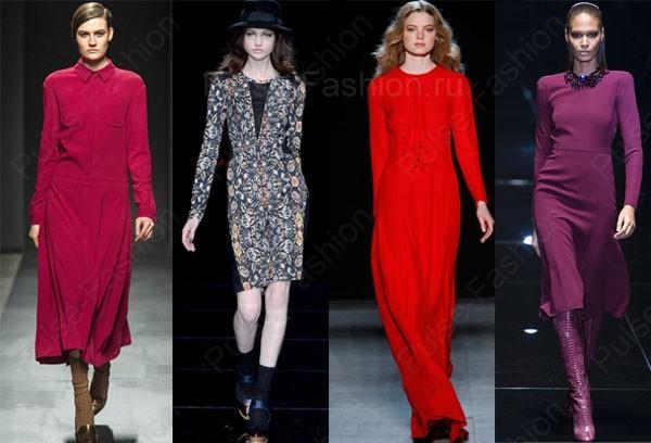 Модные и стильные платья осень-зима 2021