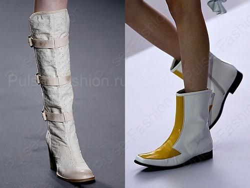 Модные и стильные вешние сапоги