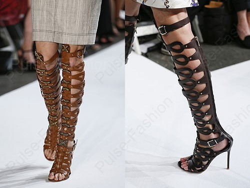 Модные и стильные сапоги от бренда Altuzarra весна 2019