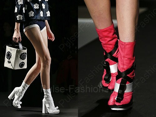 Модные и стильные сапоги от бренда Prada сезон весна-лето 2015