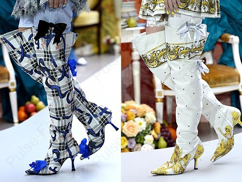 Модные и стильные сапоги от бренда Meadham Kirchhoff весна-лето 2018