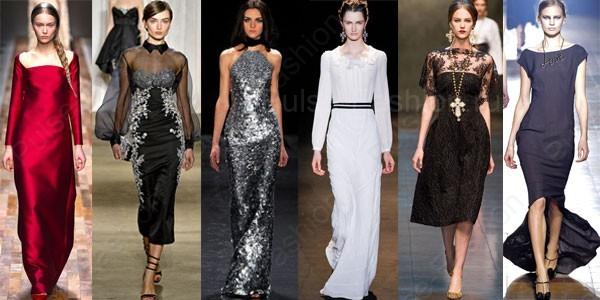 Модные и стильные вечерние платья осень-зима 2017