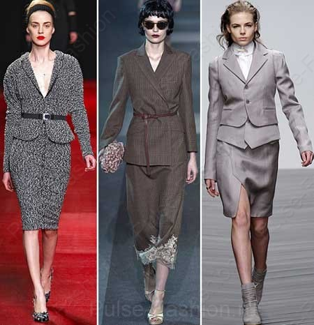 Модные женские костюмы осень-зима 2017