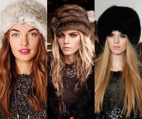 Стильные шапки из меха зима 2017