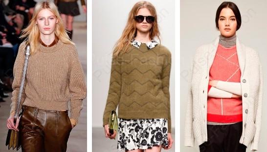 дамские свитера осень-зима 2015
