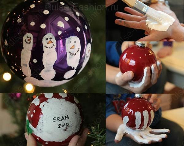 новогодние шары раскрашенные своими руками