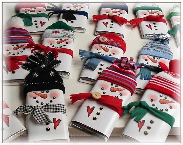 """шоколадка в новогодней упаковке """"снеговик"""""""