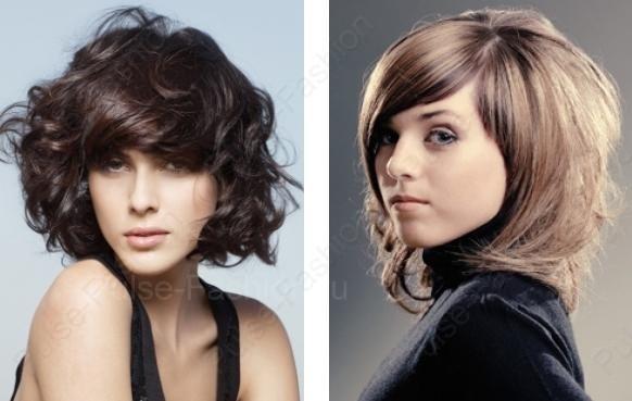 прекрасные укладки на средние волосы