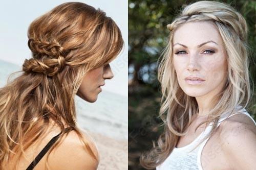 прически на базе кос на волосы средней длины
