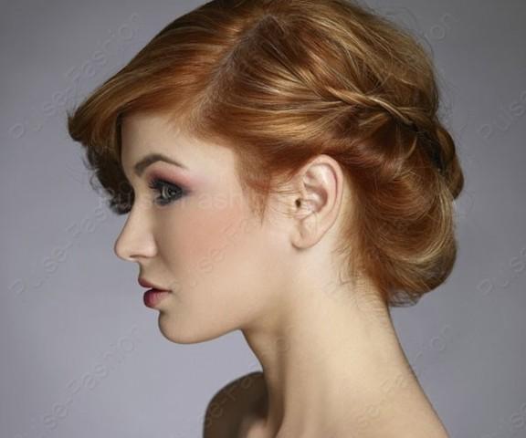собранные волосы средней длины фото