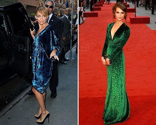 голубое и зеленоватое платьице на новый год 2019