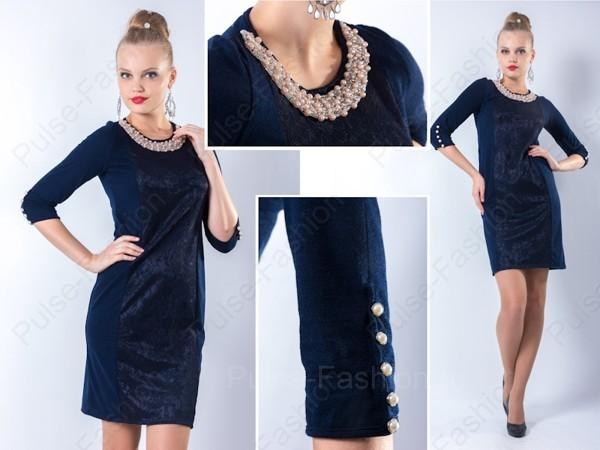 прекрасное платьице на новый год 2021 голубого цвета