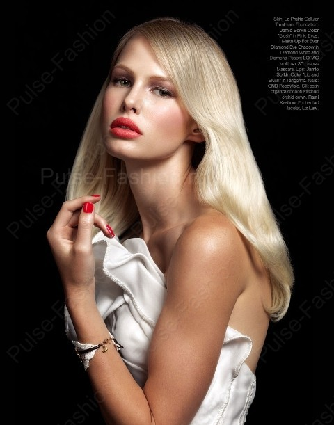 Вечерний мейкап для блондинок