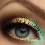 Вечерний мейкап для голубых глаз