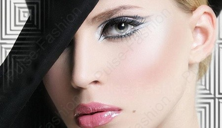 Вечерний мейкап сероватых глаз